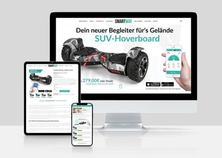Smartway Berlin - Webshop und Webseite
